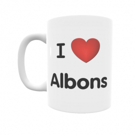 Taza - I ❤ Albons