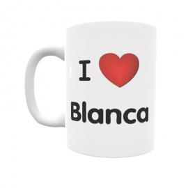 Taza - I ❤ Blanca