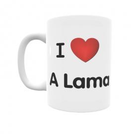 Taza - I ❤ A Lama
