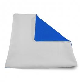 Funda cojín bicolor Azul