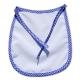 Babero Infantil con borde color Azul