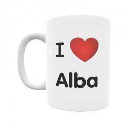 Taza - I ❤ Alba