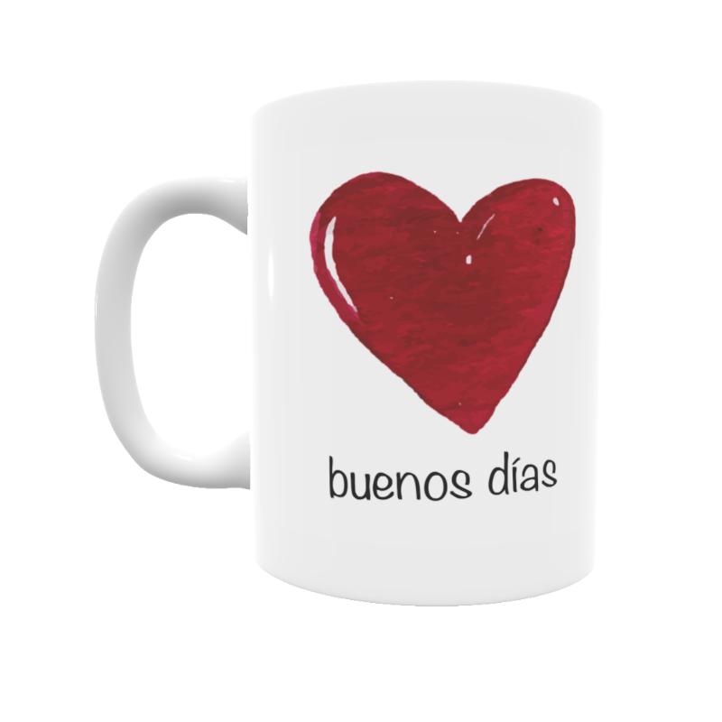 Taza Buenos Días Corazón Con El Estilo De Totos Shop