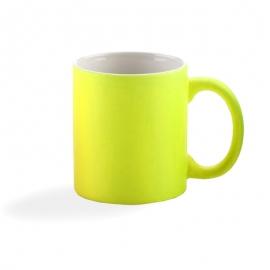 Taza PREMIUM personalizada Color flúor foto texto logotipo merchandising