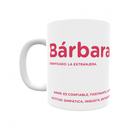 Taza - Bárbara