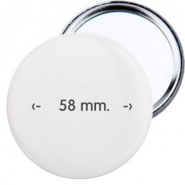 Chapa espejo de 58 mm.