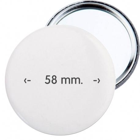 Chapa espejo 58 mm personalizada publicidad merchandising