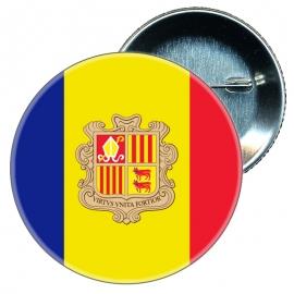 Chapa 58 mm Bandera Andorra