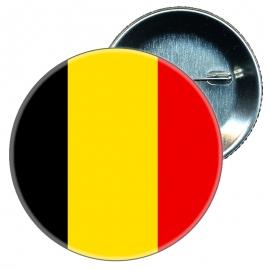 Chapa 58 mm Bandera Bélgica