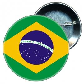 Chapa 58 mm Bandera Brasil