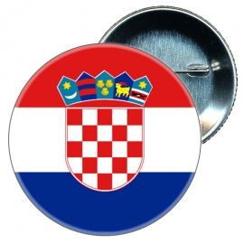Chapa 58 mm Bandera Croacia