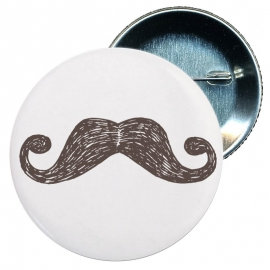 Chapa 58 mm - Bigotes retro