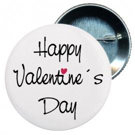 Chapa 58 mm - Happy Valentine´s day Feliz día de San Valentin