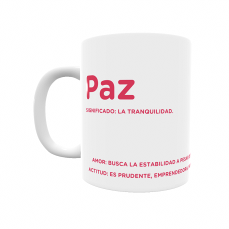 Taza - Paz