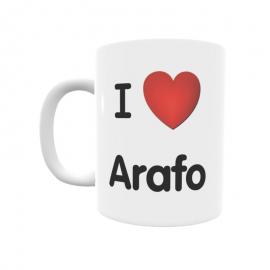 Taza - I ❤ Arafo