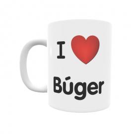Taza - I ❤ Búger