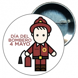 Chapa 58 profesiones dia internacional del bombero