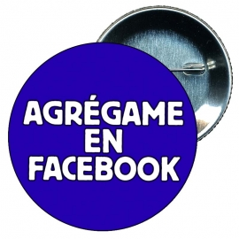 Chapa 75 mm personalizada despedida soltera Agrégame al facebook.
