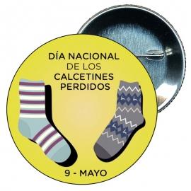 Chapa 58 del día nacional de los calcetines perdidos 9 mayo