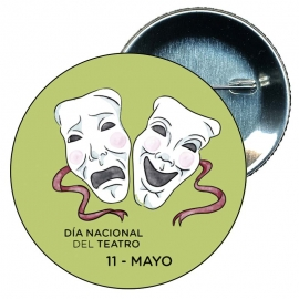 Chapa 58 mm día internacional del teatro 11 mayo