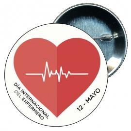 Chapa 58 mm día internacional del Enfermero 12 mayo