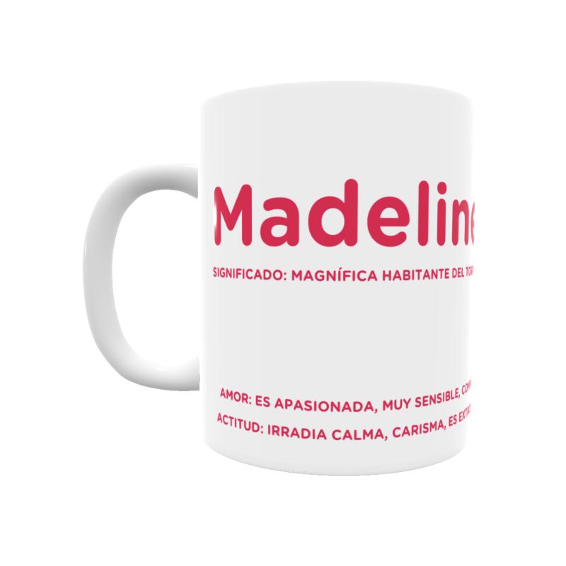 Taza con el significado del nombre Madeline.