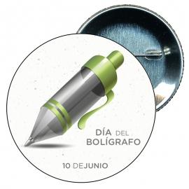 Chapa 58 Día del bolígrafo 10 Junio.