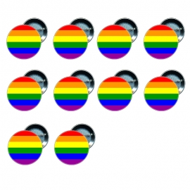 10 Chapas 58 mm - Bandera Gay