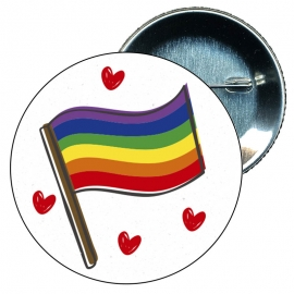 Chapa 58 mm Mano Gay - Bandera Gay - Orgullo gay - Pride
