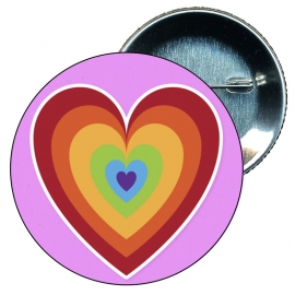 Chapa 58 mm Corazon Gay - Bandera Gay - Orgullo gay - Pride