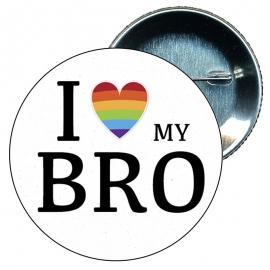 Chapa 58 mm I love my bro - Gay - Bandera Gay - Orgullo gay - Pride
