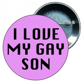 Chapa 58 mm I love my gay son - Gay - Bandera Gay - Orgullo gay - Pride