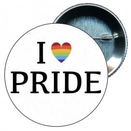 Chapa 58 mm I love pride - Gay - Bandera Gay - Orgullo gay - Pride