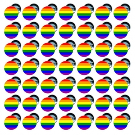 50 Chapas 25 mm - Bandera Gay - Happy Pride Gay