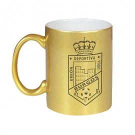 Taza gold - CD Burgos U.D metalizado merchandising