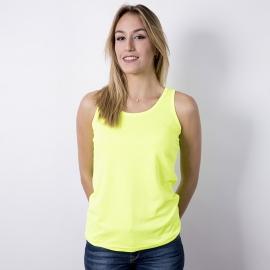 Camiseta mujer tirantes - Amarilla Fluor
