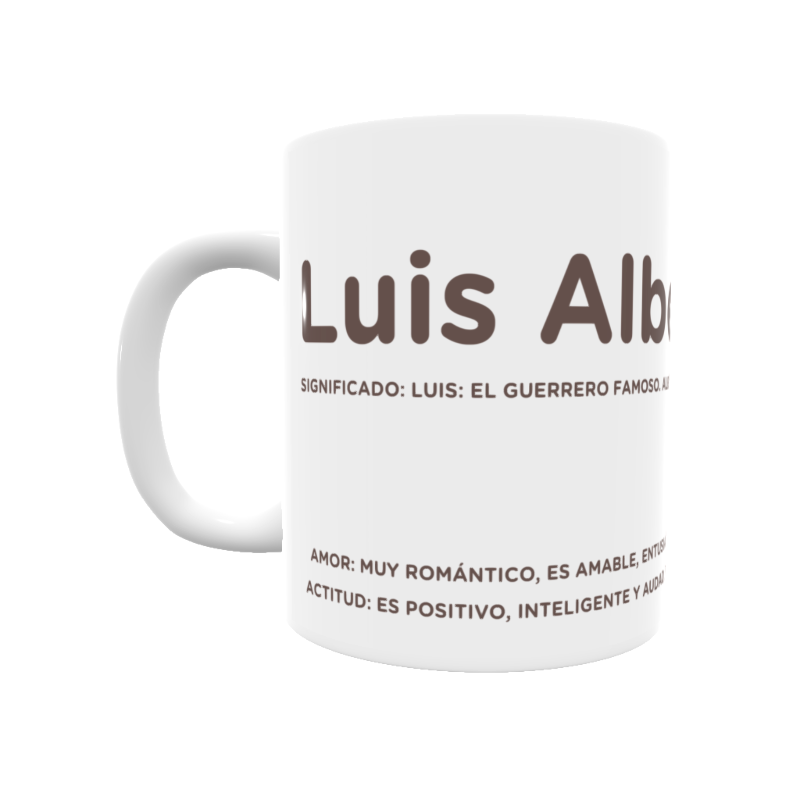 Taza Con El Significado Del Nombre Luis Alberto