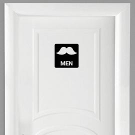 Vinilo personalizado - WC Baño - Puerta men