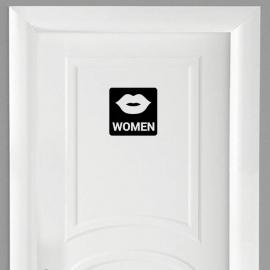 Vinilo personalizado - WC Baño - Puerta women