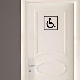 Vinilo personalizado - WC Baño - Puerta minusválido