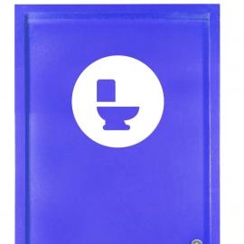 Vinilo personalizado - WC Baño - Puerta baños