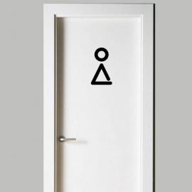 Vinilo personalizado - WC Baño - Puerta chica, mujer, women