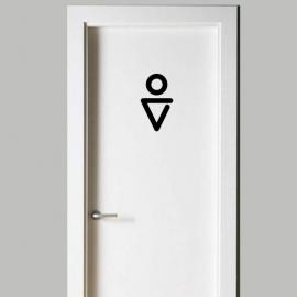 Vinilo personalizado - WC Baño - Puerta chico, hombre, men