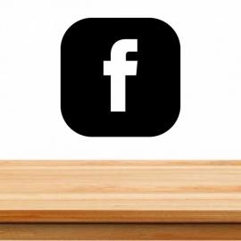 Pegatina personalizada de vinilo facebook
