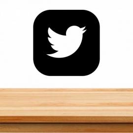 Pegatina personalizada de vinilo social media, twitter