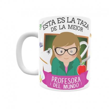 ef475b9985b Taza para la mejor profesora con el estilo de Toto´s Shop ©.