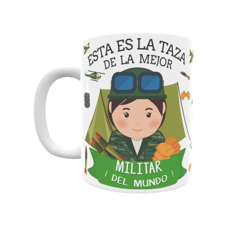 Taza para la mejor Militar con el estilo de Toto´s Shop ©.