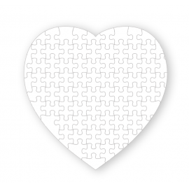 Puzzle Cartón MATE - Corazón 75 Piezas 19,5x19,5 cm
