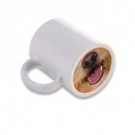 Taza personalizada con foto, base perro