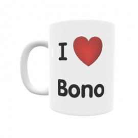Taza - I ❤ Bono